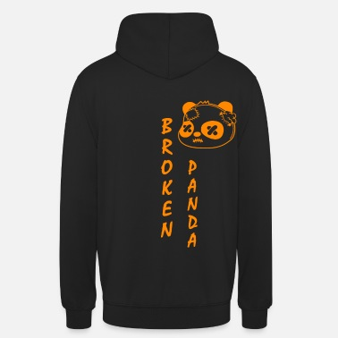 Broken Panda Vertical Orange - Unisex Hoodie