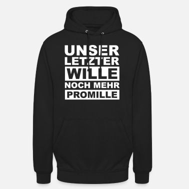 Per duizend, drank, alcohol, gezegde, grappig - Unisex hoodie