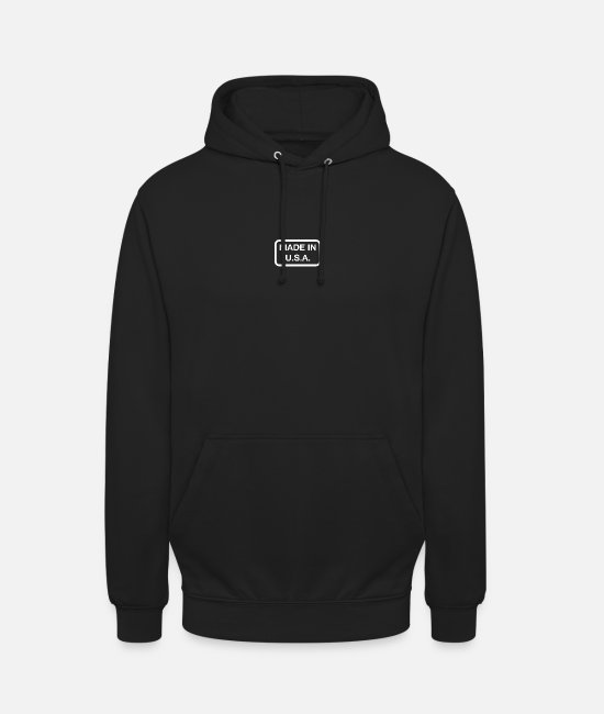 State Hoodies & Sweatshirts - Made In USA - Unisex Hoodie black