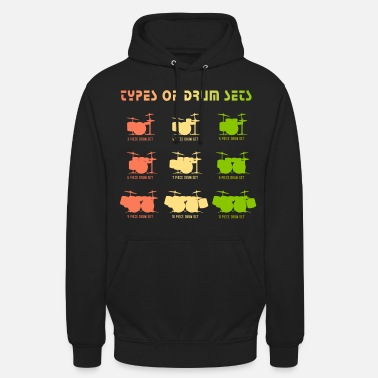 Drum Set Drummer Types of Drum Sets - Unisex Hoodie