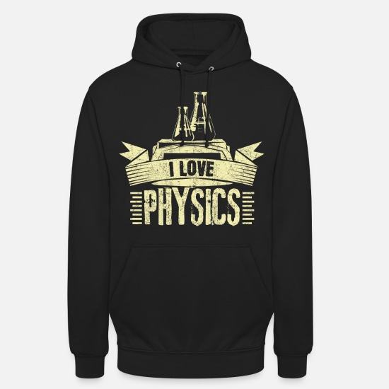 Professor Hoodies & Sweatshirts - Physics proton theory - Unisex Hoodie black
