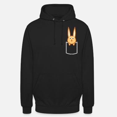 Rabbit looks out of the bag - rabbit design - Unisex Hoodie