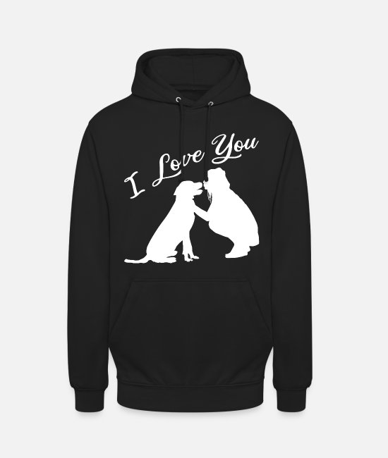 Love Hoodies & Sweatshirts - Dog love - Unisex Hoodie black
