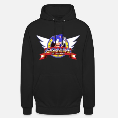 Sonic The Hedgehog Retro Logo - Unisex Hoodie