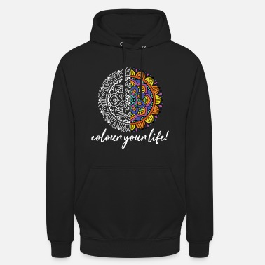 Colour Colour your Life Mandala Tribal Tattoo Geschenk - Unisex Hoodie