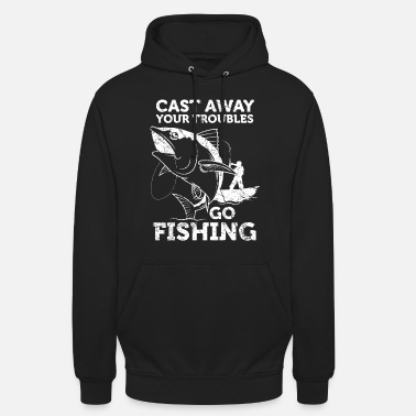 Biggame Go Fishing Funny fishing quote angler gift - Unisex Hoodie