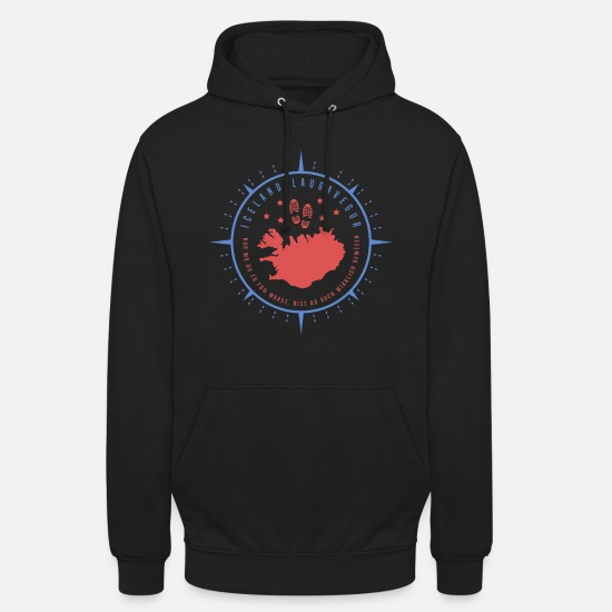 Birthday Hoodies & Sweatshirts - Iceland Laugavegur trekking hike in Iceland - Unisex Hoodie black