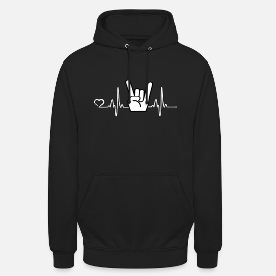 Rockabilly Hoodies & Sweatshirts - Rock'n'Roll - heart beat - Unisex Hoodie black