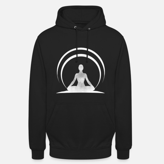 Zen Sweat-shirts - méditation - Sweat à capuche unisexe noir