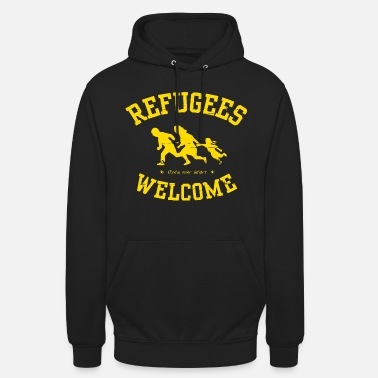 Refugees Refugees Welcome - Open your heart - Unisex Hoodie