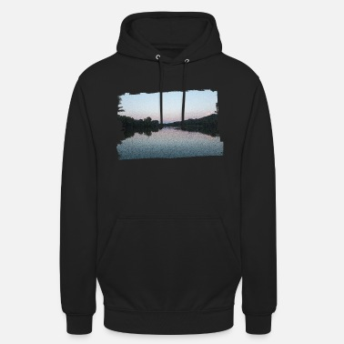 Evening Lake in the evening - Unisex Hoodie