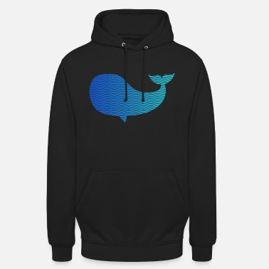 Wale wale from waves and sea - Unisex Hoodie