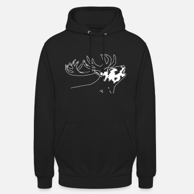 Red Deer Deer head - deer - red deer - Unisex Hoodie