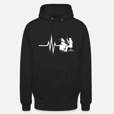 Instrument My heart beats for drums - Instrument Drum - Unisex Hoodie