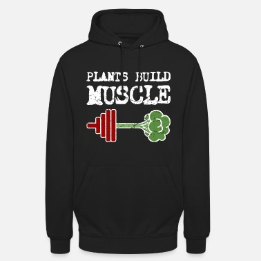 Vegan bodybuilding fitness dumbbell workout gift - Unisex Hoodie