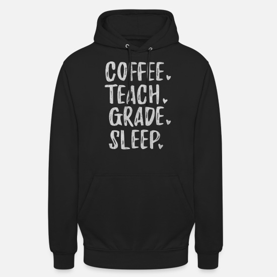 Elementary School Hoodies & Sweatshirts - Teacher, Teacher, Teacher, Teacher Occupation, Sub - Unisex Hoodie black
