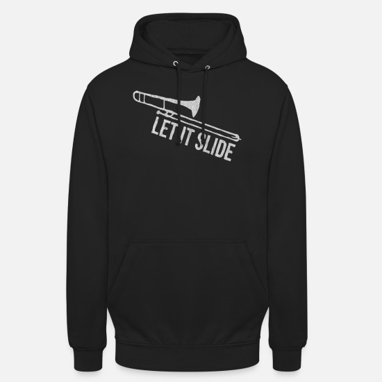 Instrument Sweat-shirts - Musique, instrument, instrument d'apprentissage, instrument - Sweat à capuche unisexe noir