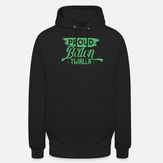 Gymnastic Hoodies & Sweatshirts - Stick turning baton turning twirling twirl - Unisex Hoodie black