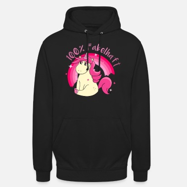 Sparkle 100 percent fabulous unicorn in pink and pink - Unisex Hoodie