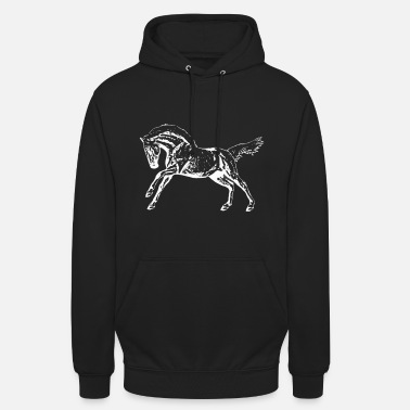 Montar A Caballo Occidental Caballo occidental blanco - Sudadera con capucha unisex