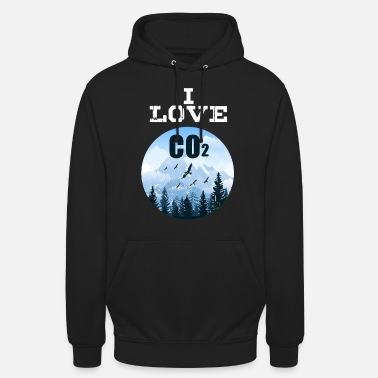 I Love Co2 Anti Climate Change Diesel Ban T-Shirt - Unisex Hoodie