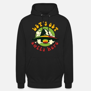 Jamaica Let's get outta here - Weed, Jamaica - Unisex Hoodie