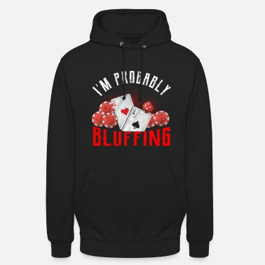 Poker Poker Bluff Casino Royal Flush Full House Gokken - Unisex hoodie
