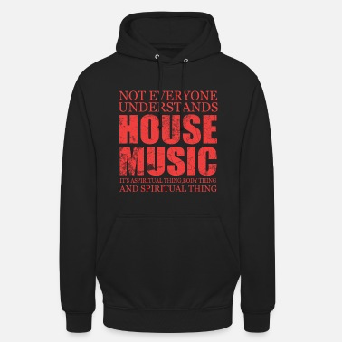 House Music Music Song Sound Gift Pop Rock Techno House Note - Unisex Hoodie