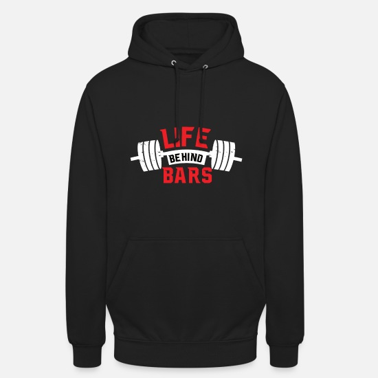 Motivation Sweat-shirts - La vie derrière les barreaux - Sweat à capuche unisexe noir