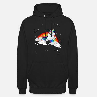 Sparkle Rainbow clouds unicorn gift idea design - Unisex Hoodie