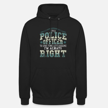 Sheriff Police officer cop sheriff gift police violence - Unisex Hoodie