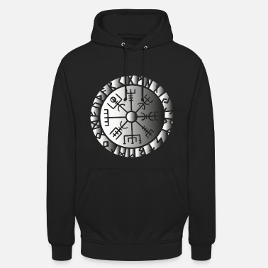 Norse Compass Viking symbol sign Norse gods compass - Unisex Hoodie