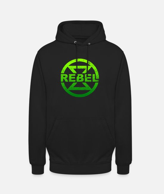 Rebellion Hoodies & Sweatshirts - Rebel hourglass climate protection environmental protection nature protection - Unisex Hoodie black