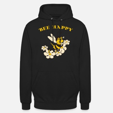 Bee Happy Cute Bee For Kids For Women For Men Be H - Unisex Hoodie