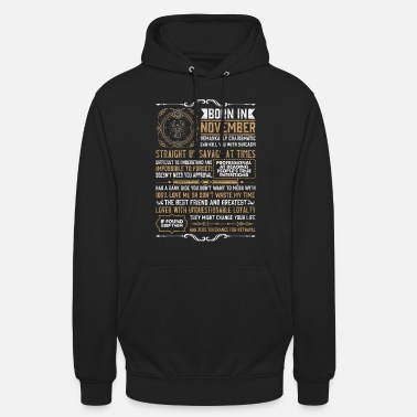 Born November Birthday Scorpio Zodiac Sign - Unisex Hoodie