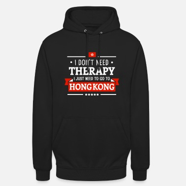 HONG KONG THERAPIE CHINA FLAGGE REISE GESCHENK - Unisex Hoodie