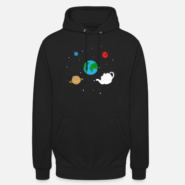 Phone space all-world flying saucer can earth - Unisex Hoodie