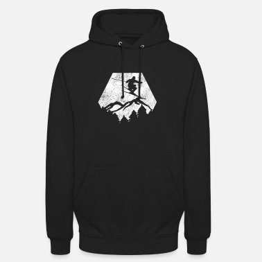 Winter Ski Winter Sports Alps Mountains Piste Polygon - Unisex Hoodie
