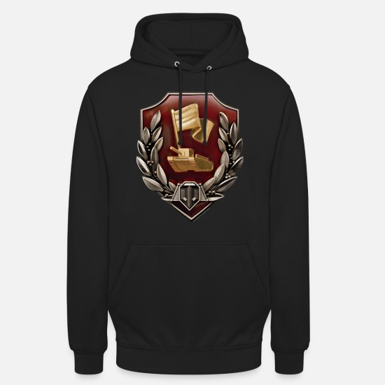 Game Hoodies & Sweatshirts - World of Tanks Medals Zashitnik - Unisex Hoodie black