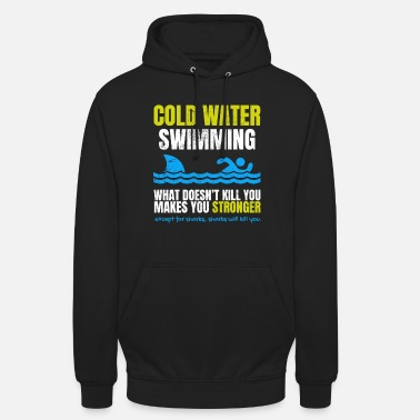 Cold Funny Cold Water Swimming Shark - Unisex Hoodie
