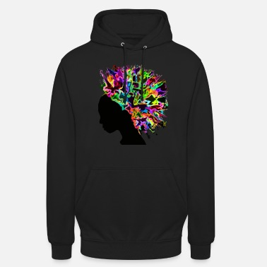 Afro Afro flowers Africa silhouette - Unisex Hoodie