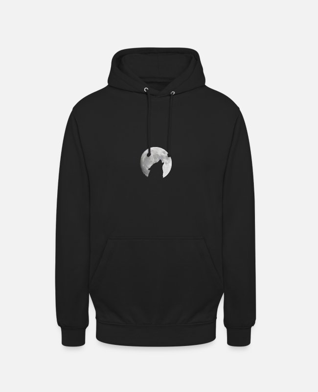 Night Hoodies & Sweatshirts - howling of the wolf - Unisex Hoodie black