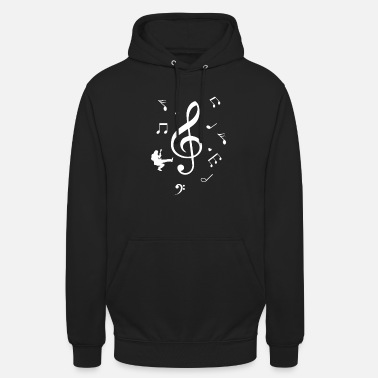 Piano Clef music notes guitarrista regalo - Sudadera con capucha unisex
