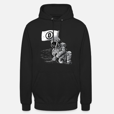 Logo Bitcoin BTC Crypto Shirt cryptocurrency miner moon - Unisex Hoodie