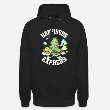 Happiness Express Weed Weed Smoking Happy THC - Sudadera con capucha unisex