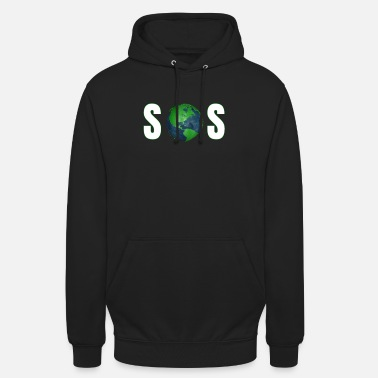 Planet SOS - Save the Planet # Climate Change #Klimaschutz - Hoodie unisex