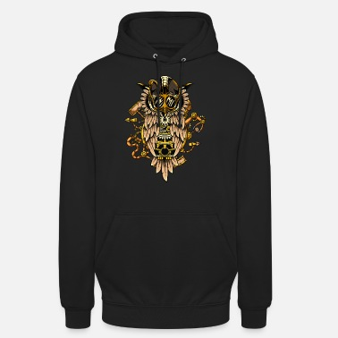 Steampunk owl owl time travel time machine retro - Hoodie unisex