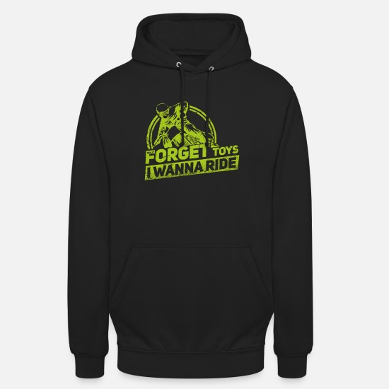 Moto Sweat-shirts - Toys Forget Toys - Motocross - Sweat à capuche unisexe noir