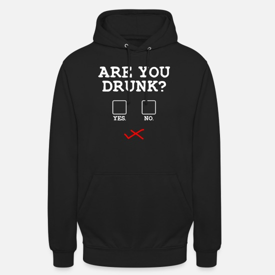 Alcohol Hoodies & Sweatshirts - Drunk checklist alcohol drinker - Unisex Hoodie black