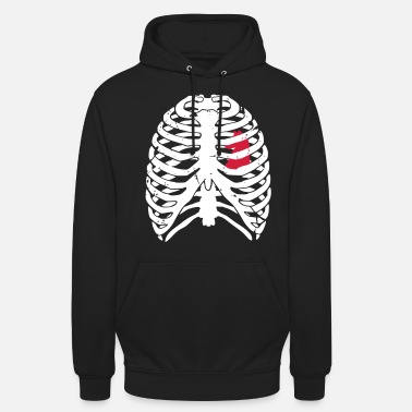 Heart beats for chess ribs thorax chest - Unisex Hoodie